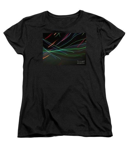 Women's T-Shirt (Standard Cut) featuring the photograph Shooting Stars by Ausra Huntington nee Paulauskaite