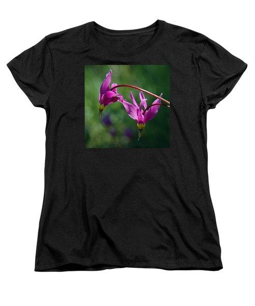 Shooting Stars Women's T-Shirt (Standard Cut) by Vivian Christopher