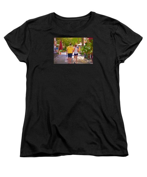 Women's T-Shirt (Standard Cut) featuring the photograph Shopping Miami Style by Judy Kay