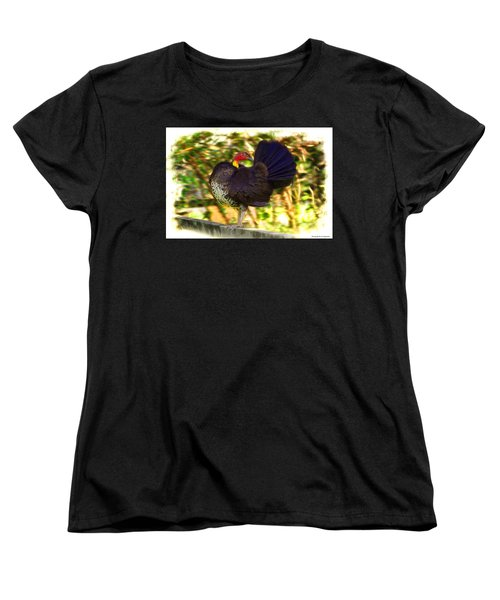Women's T-Shirt (Standard Cut) featuring the photograph Show Off 01 by Kevin Chippindall