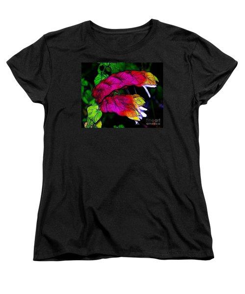 Shrimp Plant Women's T-Shirt (Standard Cut) by Judi Bagwell