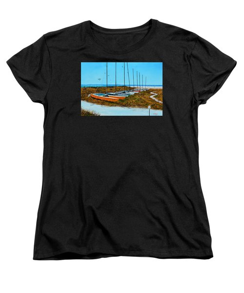 Siesta Key Access #8 Catamarans Women's T-Shirt (Standard Cut) by Lloyd Dobson