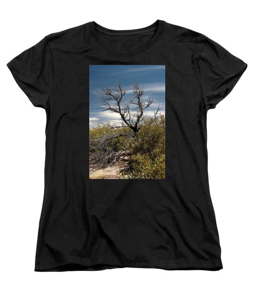 Women's T-Shirt (Standard Cut) featuring the photograph Signs Of Life After The Fire by Joe Kozlowski