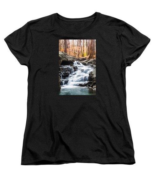 Autumn At Moss Rock Preserve Women's T-Shirt (Standard Cut) by Parker Cunningham