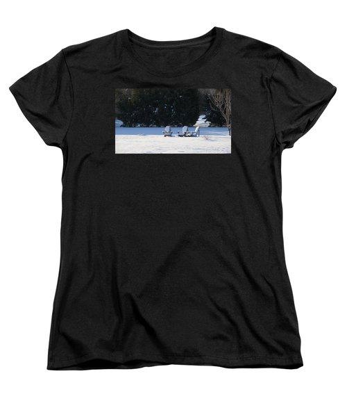 Silent Conversation Women's T-Shirt (Standard Cut) by Charles Kraus