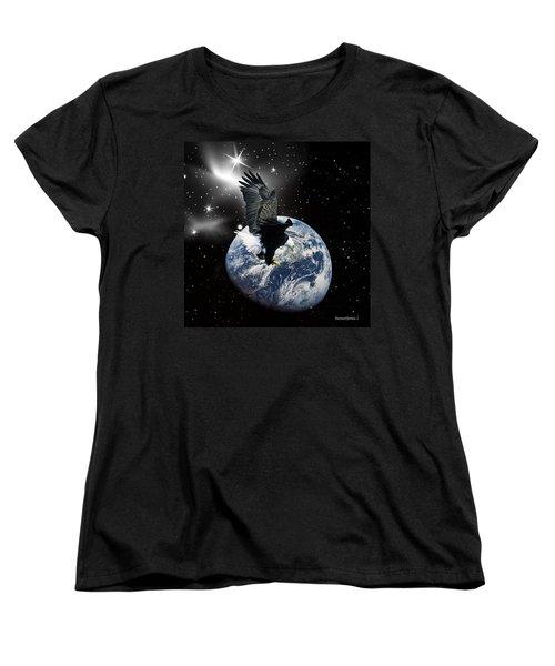 Silent Night Women's T-Shirt (Standard Cut) by Robert Orinski
