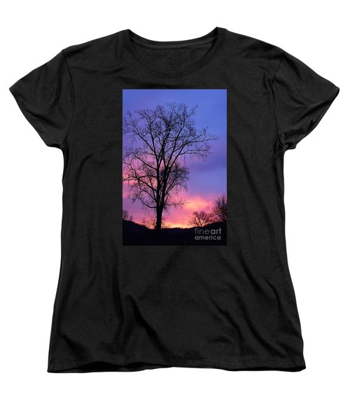 Women's T-Shirt (Standard Cut) featuring the photograph Silhouette At Dawn by Larry Ricker