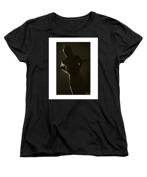Silhouette Of Topless Girl Women's T-Shirt (Standard Cut) by Michael Edwards