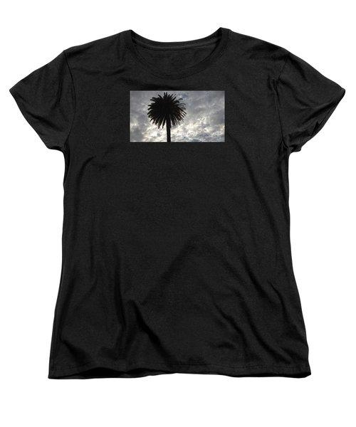 Silhouette Solo Palm  Women's T-Shirt (Standard Cut) by Nora Boghossian