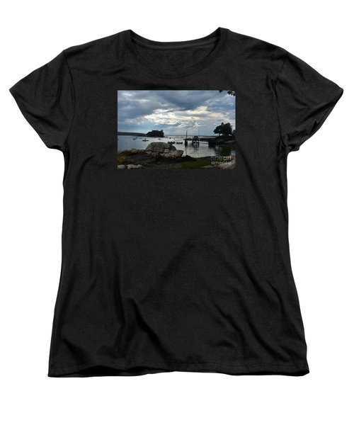 Silhouetted Views From Bustin's Island In Maine Women's T-Shirt (Standard Cut) by DejaVu Designs