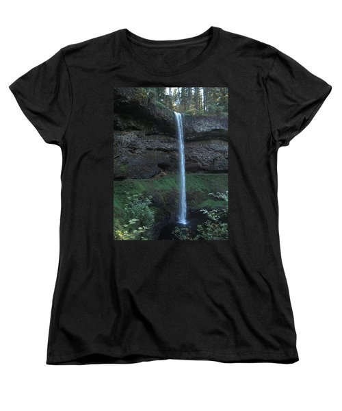 Women's T-Shirt (Standard Cut) featuring the photograph Silver Falls by Thomas J Herring