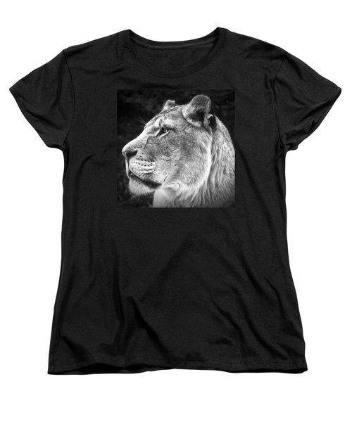 Women's T-Shirt (Standard Cut) featuring the photograph Silver Lioness - Squareformat by Chris Boulton