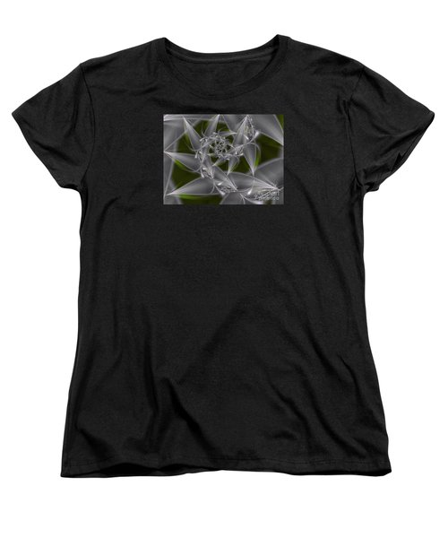 Women's T-Shirt (Standard Cut) featuring the digital art Silverleaves by Karin Kuhlmann
