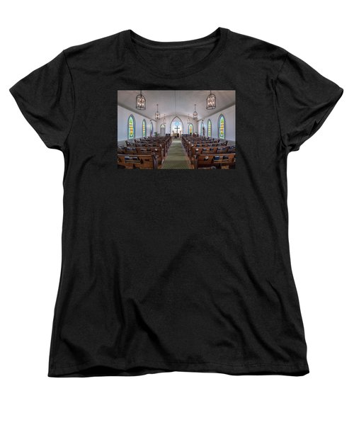 Simple Worship Women's T-Shirt (Standard Cut) by Andy Crawford