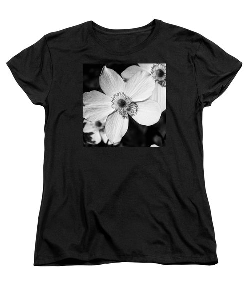 Simply Black And White Women's T-Shirt (Standard Cut) by Karen Stahlros