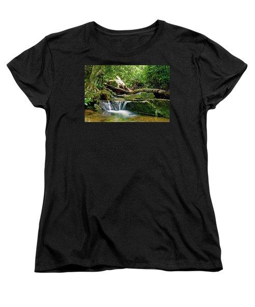 Sims Creek Waterfall Women's T-Shirt (Standard Cut) by Meta Gatschenberger