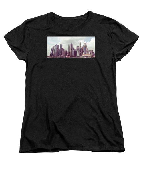 Singapore Cityscape The Second Women's T-Shirt (Standard Cut) by Joseph Westrupp