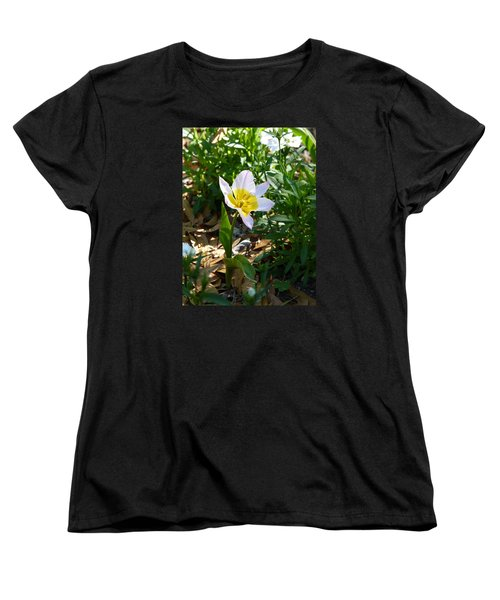 Women's T-Shirt (Standard Cut) featuring the photograph Single Flower - Simplify Series by Carla Parris