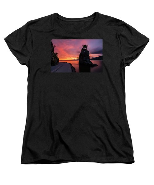 Women's T-Shirt (Standard Cut) featuring the photograph Siwash Rock Along The Sea Wall by Pierre Leclerc Photography