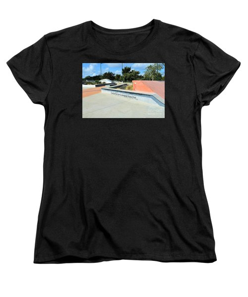 Women's T-Shirt (Standard Cut) featuring the photograph Skate Park by Ray Shrewsberry