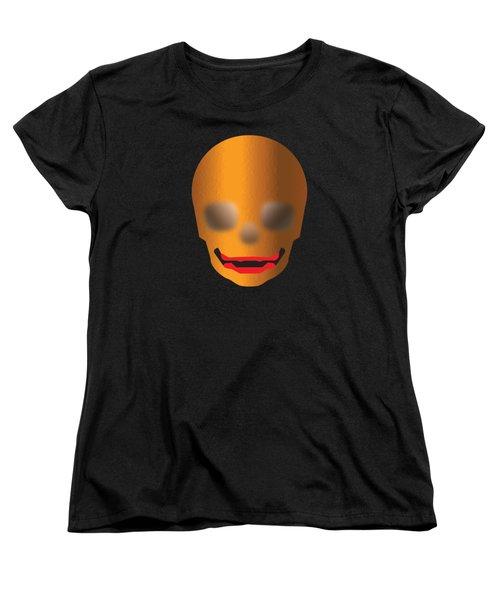 Skull With Lips Women's T-Shirt (Standard Cut) by Stan  Magnan