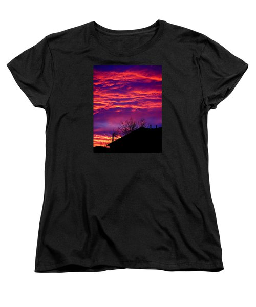 Women's T-Shirt (Standard Cut) featuring the photograph Sky Drama by Valentino Visentini