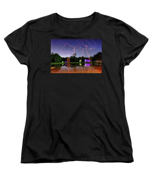 Sky Shrooms Women's T-Shirt (Standard Cut) by Andrew Nourse