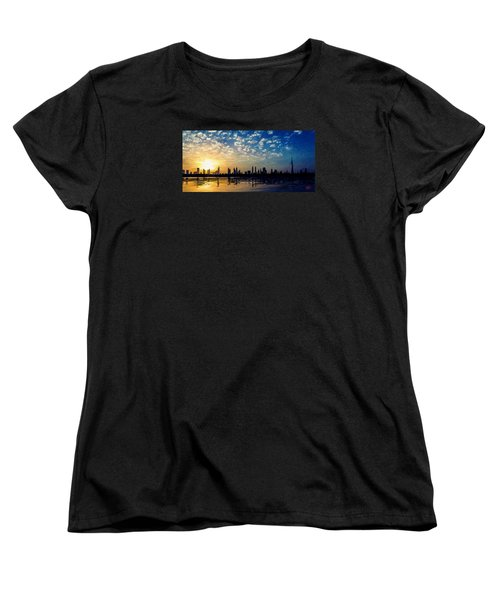 Women's T-Shirt (Standard Cut) featuring the painting Skyline by James Shepherd