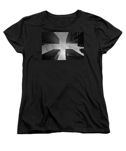 Skyscraper Intersection Women's T-Shirt (Standard Cut) by Linda Edgecomb