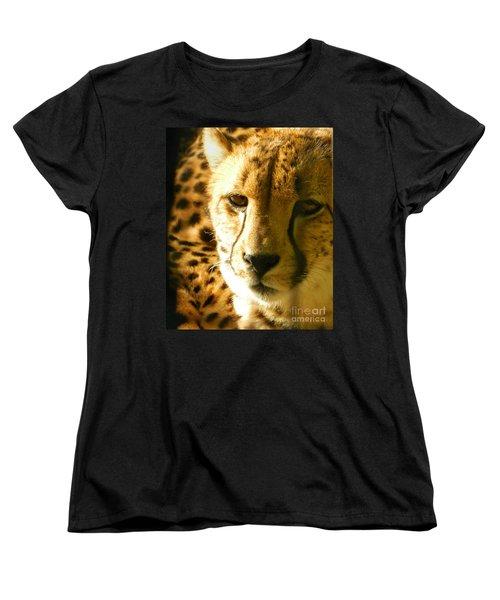 Sleepy Cheetah Cub Women's T-Shirt (Standard Cut) by Emmy Marie Vickers