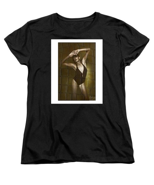 Women's T-Shirt (Standard Cut) featuring the photograph Slim Girl In Bathing Suit by Michael Edwards