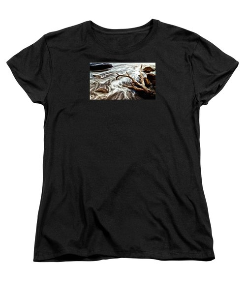 Slow Motion Sea Women's T-Shirt (Standard Cut) by Cameron Wood