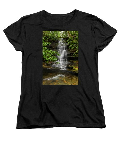 Small Waterfalls In The Forest. Women's T-Shirt (Standard Cut)
