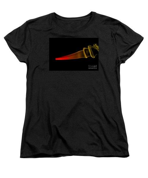 Women's T-Shirt (Standard Cut) featuring the photograph smoke XXX by Joerg Lingnau