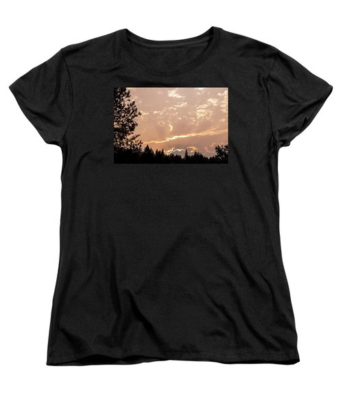 Smokey Skies Sunset Women's T-Shirt (Standard Cut) by Melanie Lankford Photography