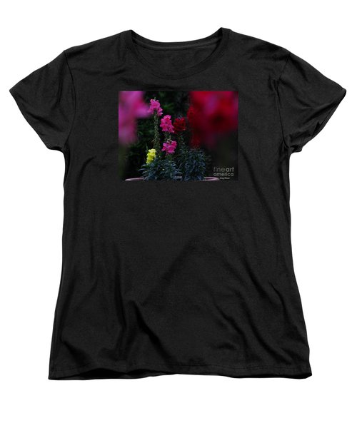 Women's T-Shirt (Standard Cut) featuring the photograph Snapdragon by Greg Patzer