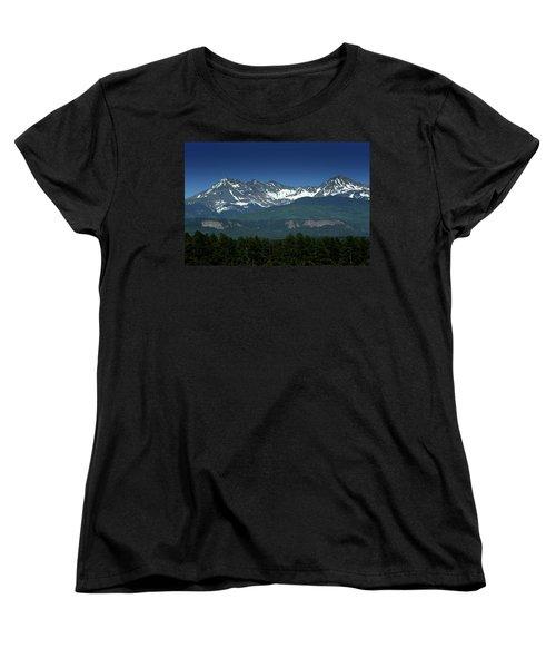 Snow Capped Mountains Women's T-Shirt (Standard Cut)