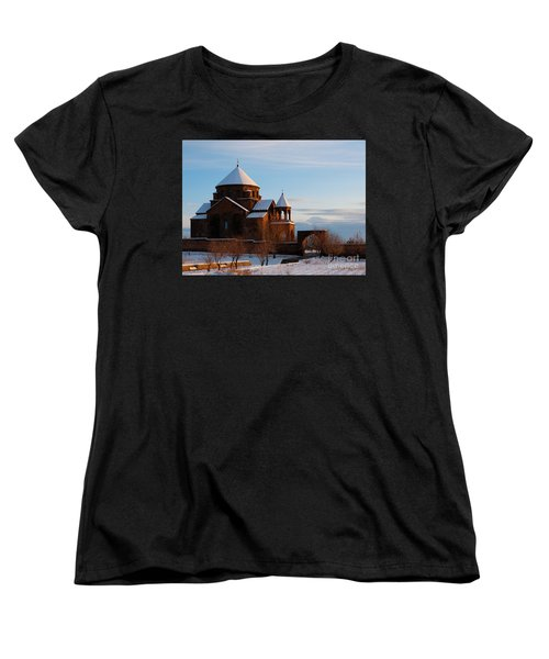 Snow Capped St. Hripsipe Church At Winter, Armenia Women's T-Shirt (Standard Cut) by Gurgen Bakhshetsyan