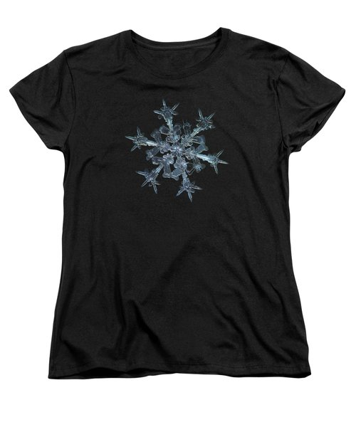 Women's T-Shirt (Standard Cut) featuring the photograph Snowflake Photo - Starlight by Alexey Kljatov