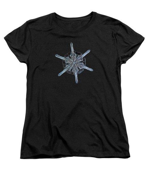 Snowflake Photo - Steering Wheel Women's T-Shirt (Standard Cut)