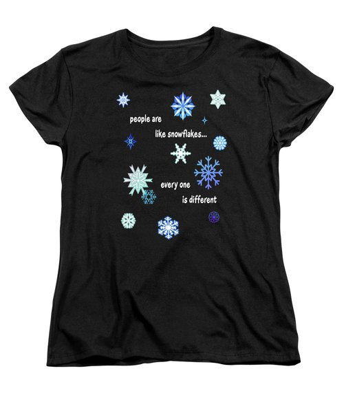 Snowflakes 4 Women's T-Shirt (Standard Cut) by Methune Hively