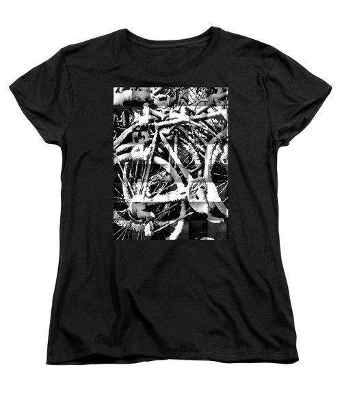 Snowy Bike Women's T-Shirt (Standard Cut)