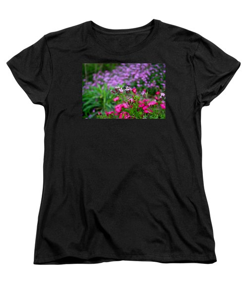 Women's T-Shirt (Standard Cut) featuring the photograph Soapwort And Pinks by Kathryn Meyer