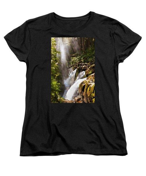 Women's T-Shirt (Standard Cut) featuring the photograph Sol Duc Falls by Adam Romanowicz