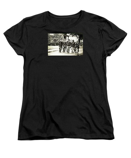 Soldiers Marching In Parade Women's T-Shirt (Standard Cut) by Rena Trepanier