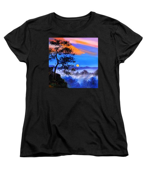 Women's T-Shirt (Standard Cut) featuring the painting Solitude by Karen Showell