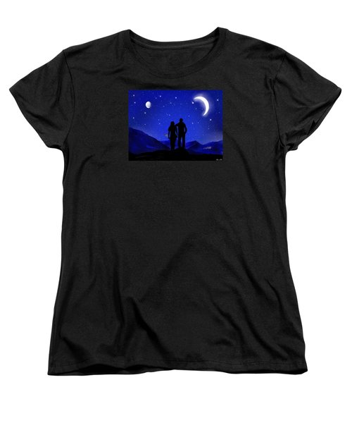 Women's T-Shirt (Standard Cut) featuring the digital art Soulmates by Bernd Hau