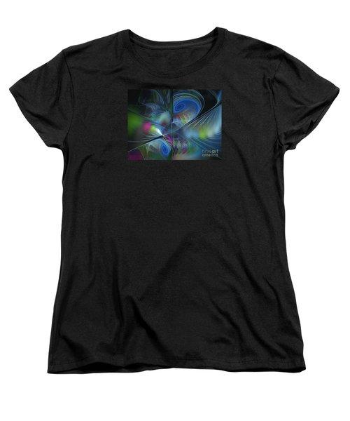 Women's T-Shirt (Standard Cut) featuring the digital art Sound And Smoke by Karin Kuhlmann
