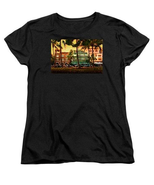 South Beach Ocean Drive Women's T-Shirt (Standard Cut) by Steven Sparks