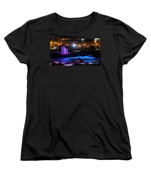 Women's T-Shirt (Standard Cut) featuring the photograph South Bend River Night by Brian Jones